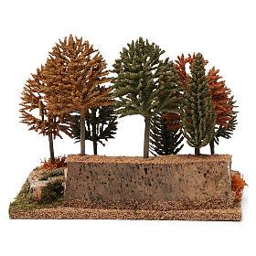 Bosco 8 alberini 20X25X20 cm per presepi 7-10 cm s4