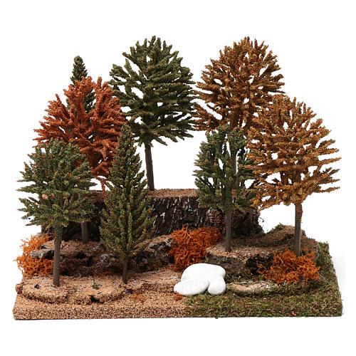 Bosco 8 alberini 20X25X20 cm per presepi 7-10 cm 1