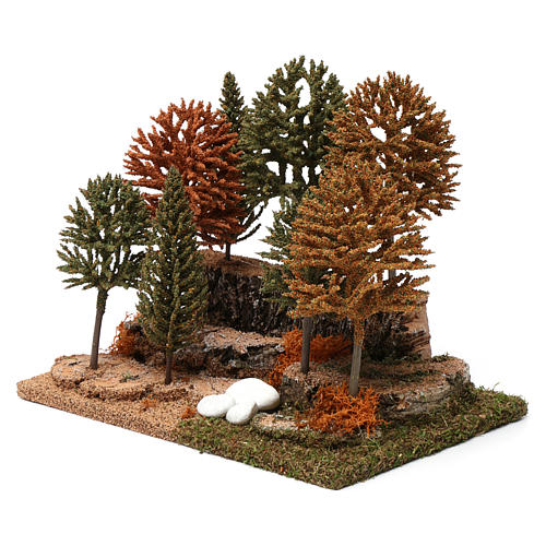 Bosco 8 alberini 20X25X20 cm per presepi 7-10 cm 2