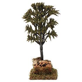Árbol verde con ramas para belén 7-10 cm de altura media s4