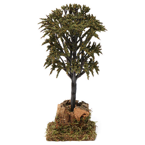Árbol verde con ramas para belén 7-10 cm de altura media 1