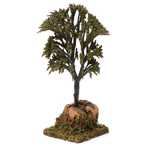 Árbol verde con ramas para belén 7-10 cm de altura media 2