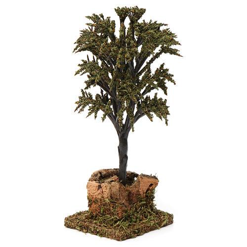 Árbol verde con ramas para belén 7-10 cm de altura media 3