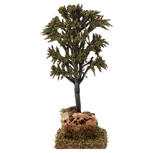 Árbol verde con ramas para belén 7-10 cm de altura media 4