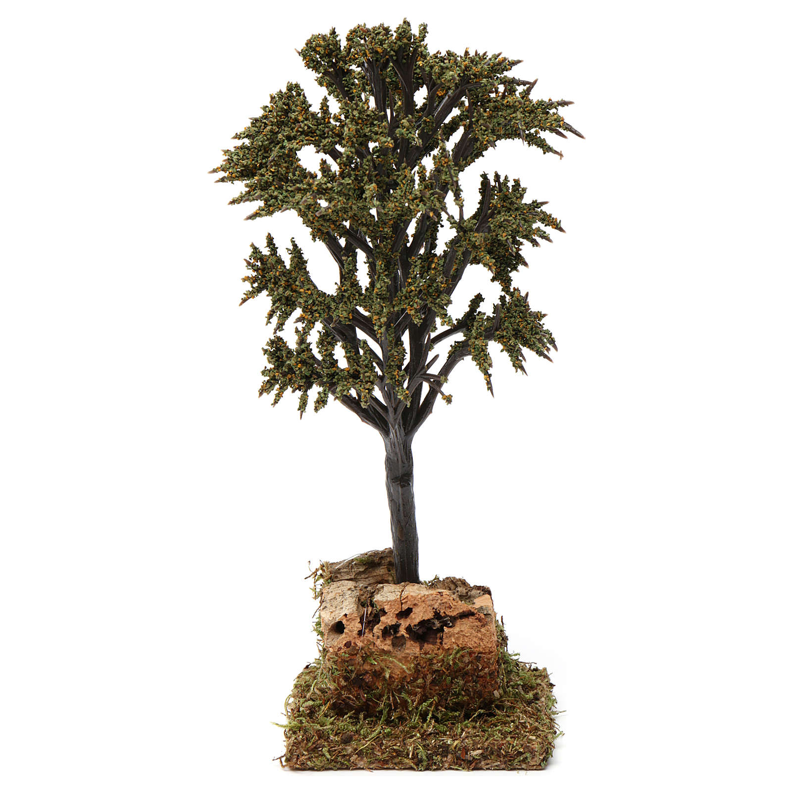Albero verde con rami per presepe 7-10 cm 4