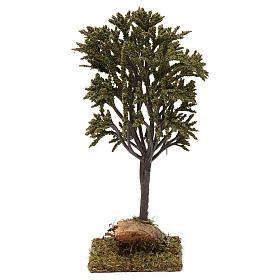 Albero verde ramificato per presepe 7-10 cm s4
