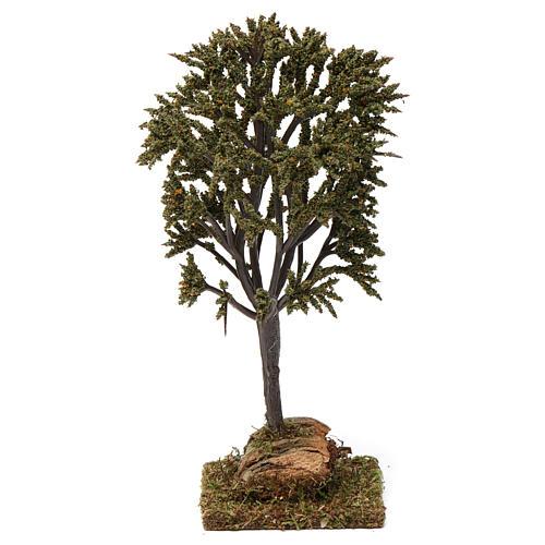 Albero verde ramificato per presepe 7-10 cm 1
