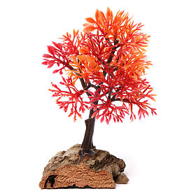 Moss, Trees, Palm trees, Floorings: Autumn tree with cork base for Nativity Scene 7-10 cm