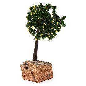 Árbol limones base corcho para belén 7-10 cm de altura media s4