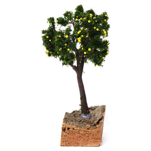 Árbol limones base corcho para belén 7-10 cm de altura media 1