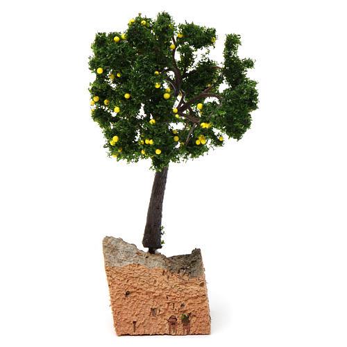 Árbol limones base corcho para belén 7-10 cm de altura media 2