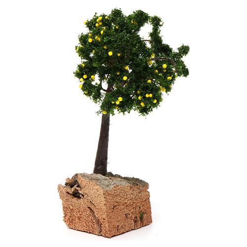 Árbol limones base corcho para belén 7-10 cm de altura media 4