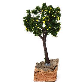 Albero limoni base sughero per presepe 7-10 cm s1