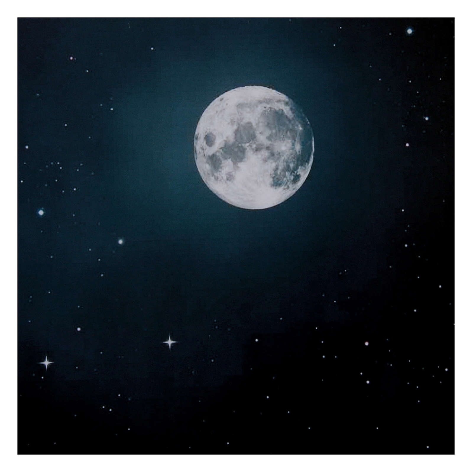 Niebo nocą księżyc 50x70 cm 4