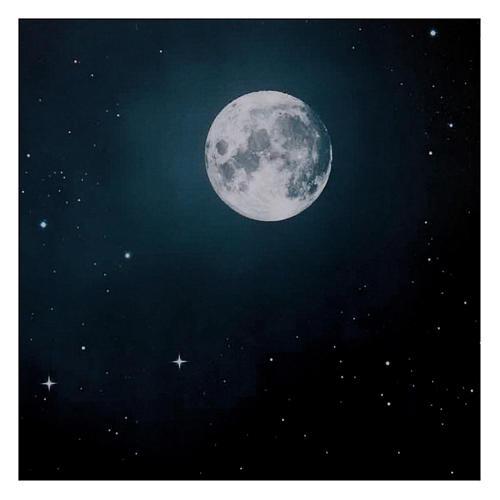 Niebo nocą księżyc 50x70 cm 2