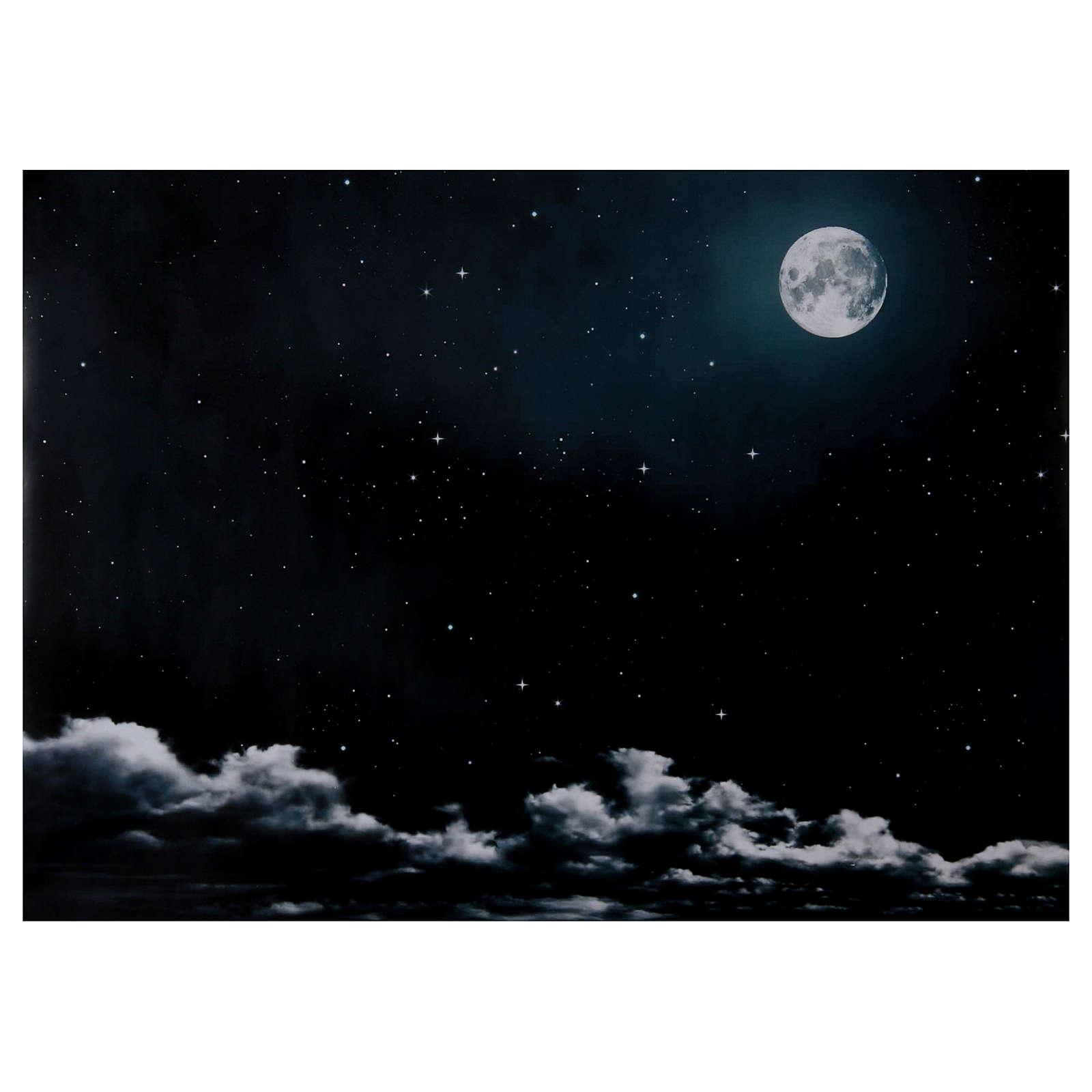 Céu noturno lua 50x70 cm 4