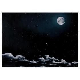 Paisagens, Cenários de Papel e Painéis para Presépio: Céu noturno lua 50x70 cm