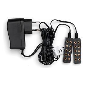 Luzes e Lamparinas para o Presépio: Tomada eléctrica dupla para transformador 190 cm cabo baixa tensão