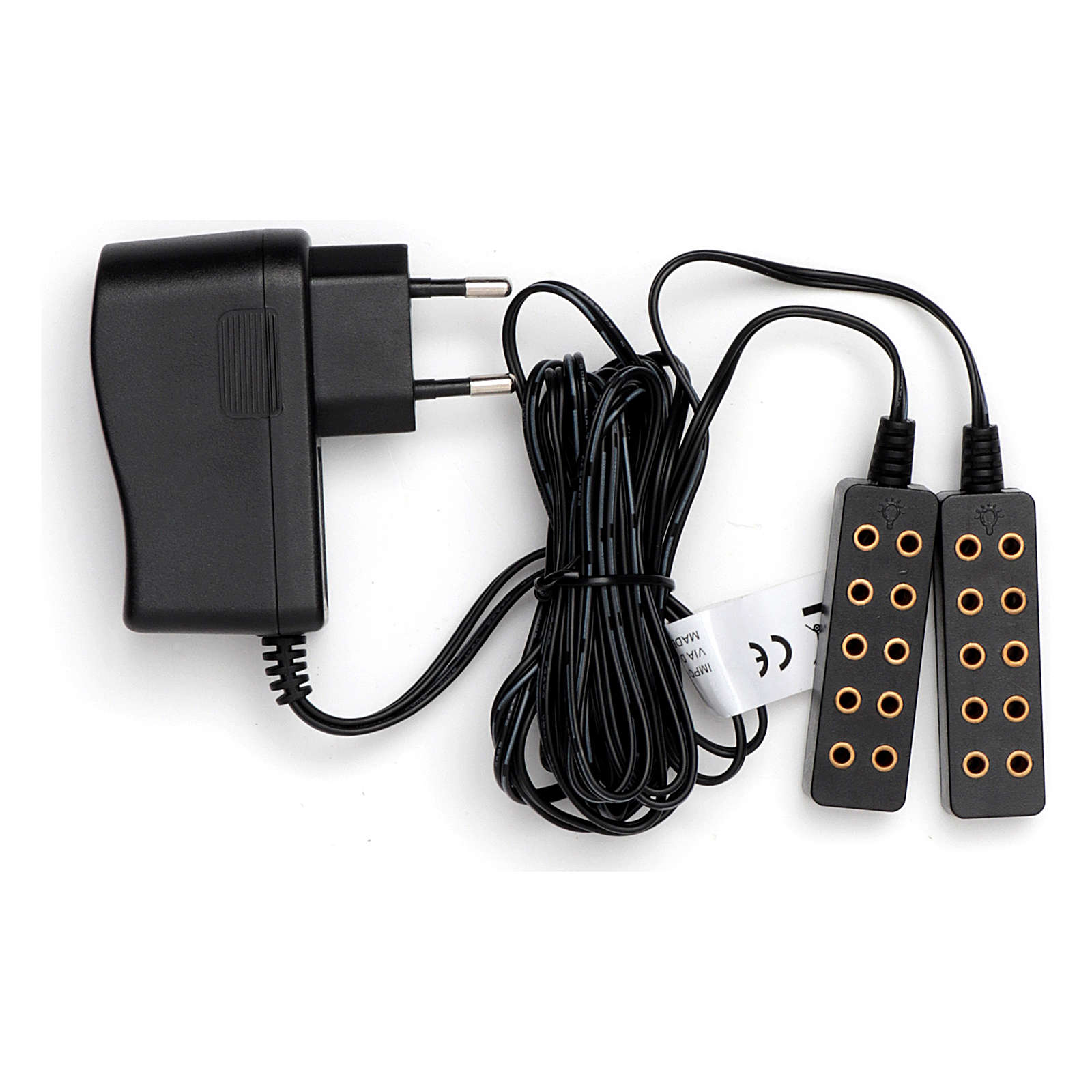 Double power strip for transformer 190 cm low voltage cable 4