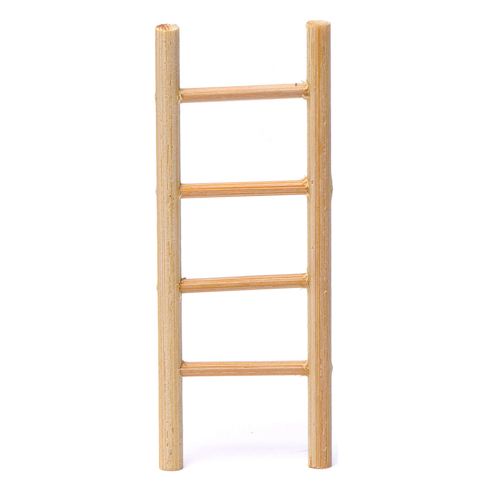 Wooden ladder with 4 rungs 10x5 cm for Nativity Scene 8-9 cm 4