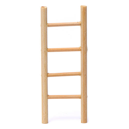 Wooden ladder with 4 rungs 10x5 cm for Nativity Scene 8-9 cm 1