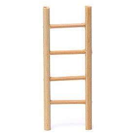 Escalera madera 4 peldaños 10x5 cm para belén 8-9 cm de altura media s1