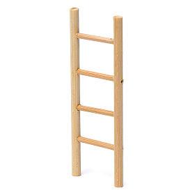 Escalera madera 4 peldaños 10x5 cm para belén 8-9 cm de altura media s2