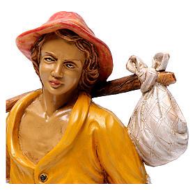 Pastore con borraccia e sacchetto 30 cm s2