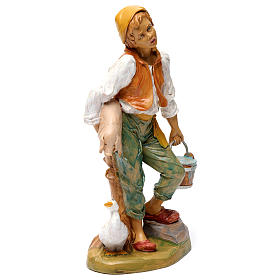 Man with pig 30 cm for Nativity Scene s4
