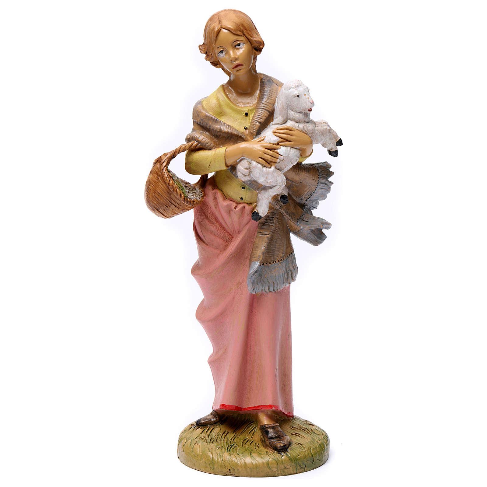 Donna con pecora 30 cm 3