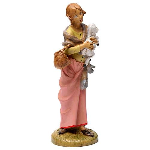 Donna con pecora 30 cm 4