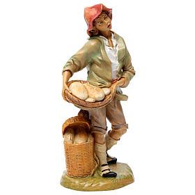 Hombre que vende pan 30 cm de altura media para belén s4