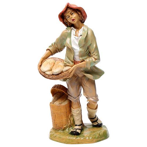 Hombre que vende pan 30 cm de altura media para belén 1