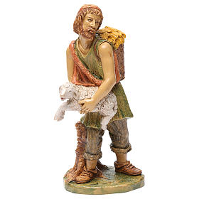 Shepherd with sheep in his arms 30 cm s1