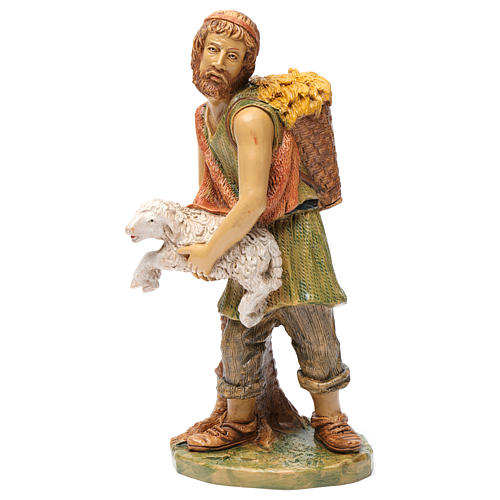 Shepherd with sheep in his arms 30 cm 3