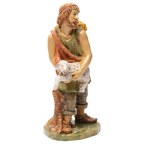 Shepherd with sheep in his arms 30 cm 4