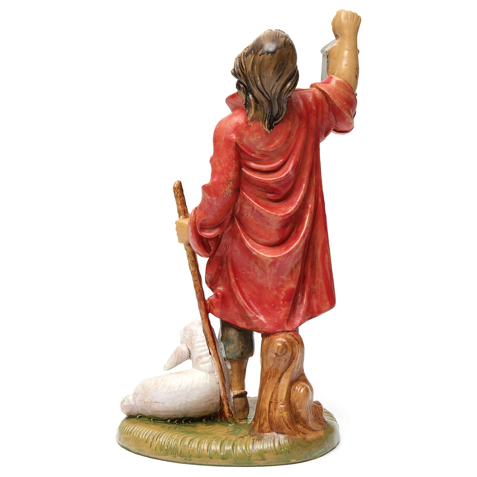 Pastore con lanterna e agnello 30 cm 3