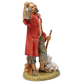 Pastore con lanterna e agnello 30 cm s2