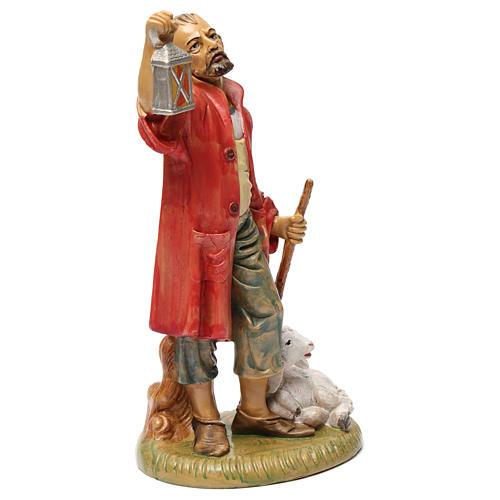 Pastore con lanterna e agnello 30 cm 2