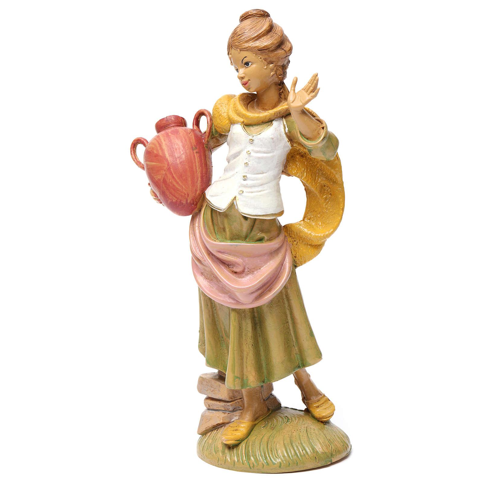 Donna con brocca 30 cm per presepe 3