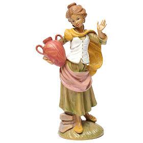 Donna con brocca 30 cm per presepe s1