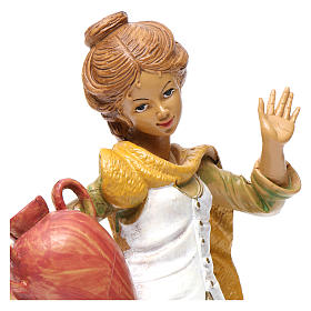 Donna con brocca 30 cm per presepe s2