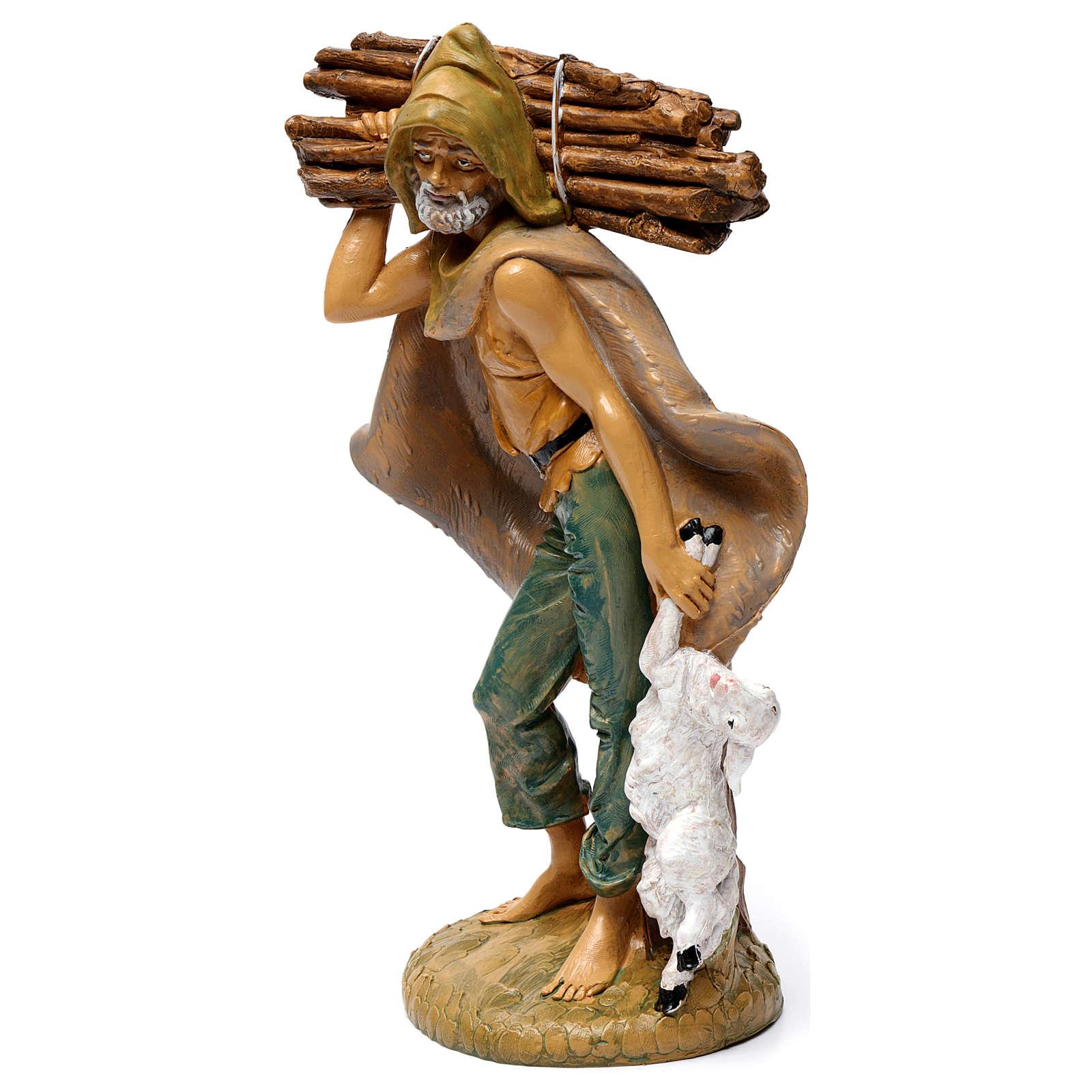 Pastore con legna 30 cm 3
