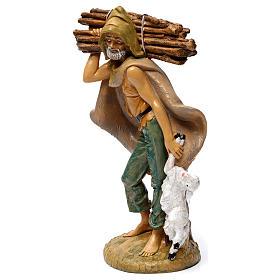 Pastore con legna 30 cm s2