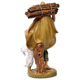 Pastore con legna 30 cm s4