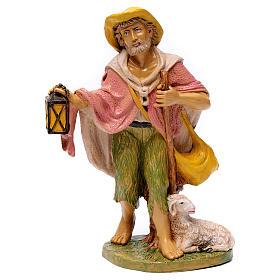 Shepherd with lantern for 30 cm Nativity Scene s1