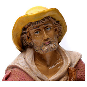 Shepherd with lantern for 30 cm Nativity Scene s2