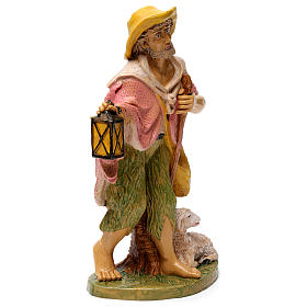 Shepherd with lantern for 30 cm Nativity Scene s4