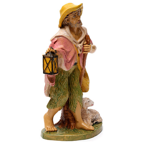 Shepherd with lantern for 30 cm Nativity Scene 4