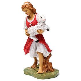 Donna con pecora in braccio 30 cm s3